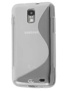 Samsung I9210T Galaxy S II 4G Wave Case - White/Frosted Clear Soft Cover