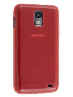 Samsung I9210T Galaxy S II 4G TPU Gel Case - Frosted Red Soft Cover