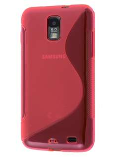 Samsung I9210T Galaxy S II 4G Wave Case - Frosted Pink/Pink Soft Cover
