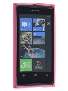 Nokia Lumia 800 TPU Gel Case - Frosted Pink
