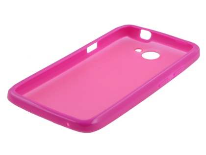 HTC One X / XL / X+ Dual-Design Case - Pink/Frosted Pink