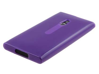 Nokia Lumia 800 TPU Gel Case - Frosted Purple