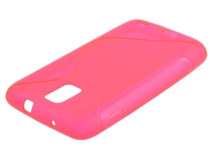 Samsung I9210T Galaxy S II 4G Wave Case - Frosted Pink/Pink