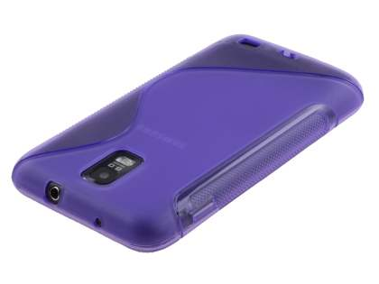 Samsung I9210T Galaxy S II 4G Wave Case - Frosted Purple/Purple