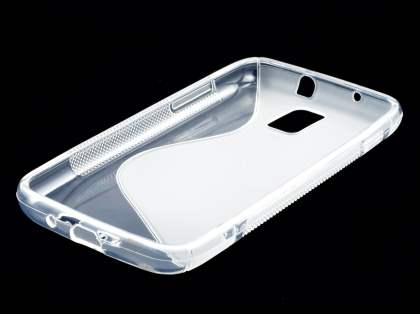 Samsung I9210T Galaxy S II 4G Wave Case - White/Frosted Clear