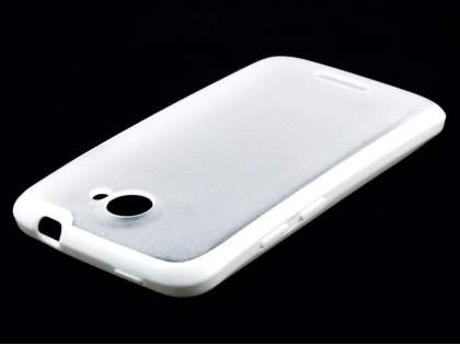 HTC One X / XL / X+ Dual-Design Case - White/Frosted Clear