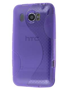HTC Titan II 4G Wave Case - Frosted Purple/Purple Soft Cover