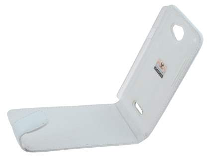 HTC One X / XL / X+ Genuine Leather Flip Case - Pearl White