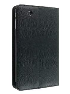 ZTE V9 Synthetic Snakeskin Leather Flip Case with Stand - Black