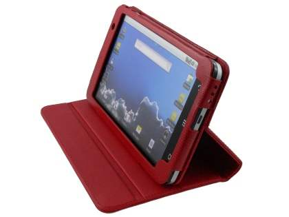 ZTE V9 Synthetic Snakeskin Leather Flip Case with Stand - Red Leather Flip Case