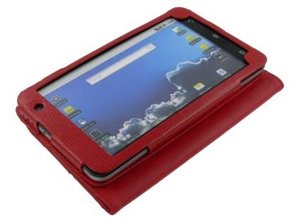 ZTE V9 Synthetic Snakeskin Leather Flip Case with Stand - Red