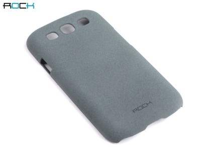 ROCK Quicksand Sand Blasted Hard Case for Samsung I9300 Galaxy S3 - Slate Grey