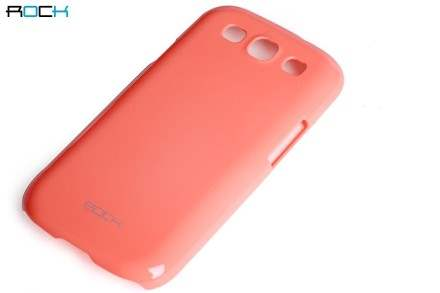ROCK Nakedshell Glossy Colour Case for Samsung I9300 Galaxy S3 - Coral Pink