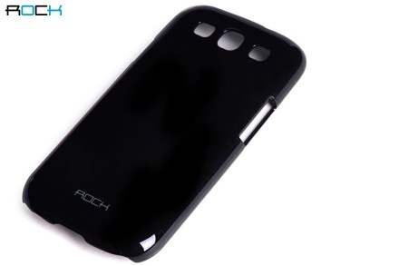 ROCK Nakedshell Glossy Colour Case for Samsung I9300 Galaxy S3 - Night Black