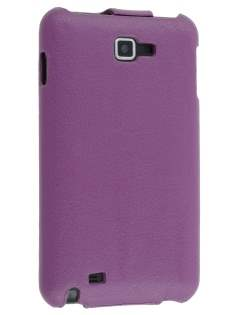 Samsung I9220 Galaxy Note Slim Synthetic Leather Flip Case - Purple Leather Flip Case