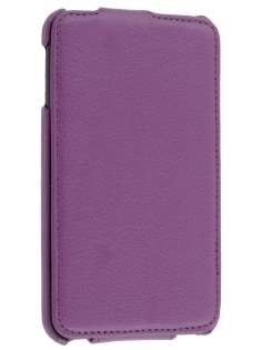 Samsung I9220 Galaxy Note Slim Synthetic Leather Flip Case - Purple