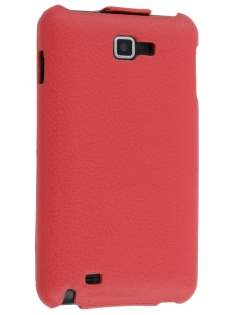 Samsung I9220 Galaxy Note Slim Synthetic Leather Flip Case - Red Leather Flip Case