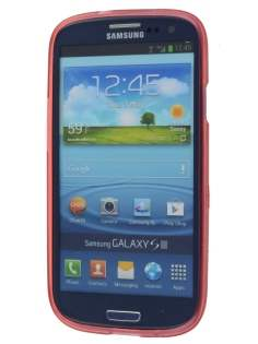 SUNTOO Samsung I9300 Galaxy S3 Frosted TPU Case plus Screen Protector - Red