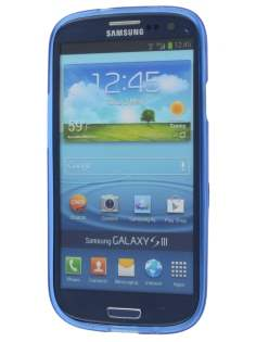 SUNTOO Samsung I9300 Galaxy S3 Frosted TPU Case plus Screen Protector - Ocean Blue