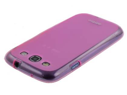 SUNTOO Samsung I9300 Galaxy S3 Frosted TPU Case plus Screen Protector - Pink