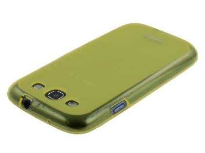 SUNTOO Samsung I9300 Galaxy S3 Frosted TPU Case plus Screen Protector - Canary Yellow