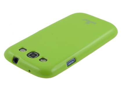 SUNTOO Glossy Gel Case for Samsung I9300 Galaxy S3 - Lime Green