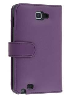 Samsung I9220 Galaxy Note Synthetic Leather Wallet Case - Purple Leather Wallet Case