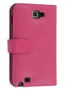Samsung I9220 Galaxy Note Synthetic Leather Wallet Case - Pink Leather Wallet Case