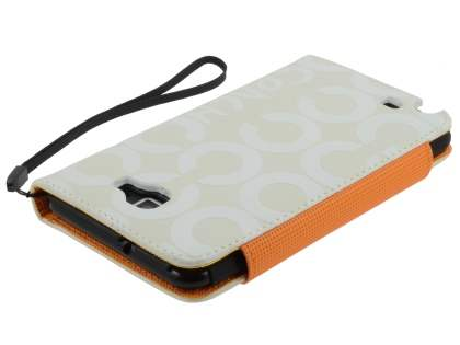 Stylish Synthetic Leather C Wallet Case with Strip for Samsung I9220 Galaxy Note  - Mint Cream White