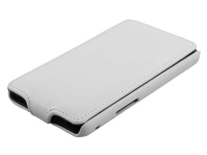 Samsung I9100 Galaxy S2 Slim Synthetic Leather Flip Case - Pearl White