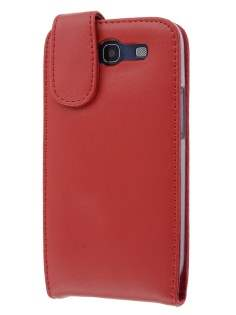 Samsung I9300 Galaxy S3 Genuine Leather Flip Case - Red Leather Flip Case