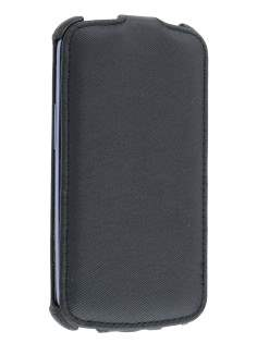 Samsung I9300 Galaxy S3 Slim Synthetic Leather Flip Case - Classic Black