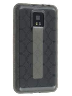 LG Optimus 2X P990 TPU Gel Case - Frosted Grey Soft Cover