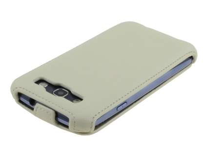 Samsung I9300 Galaxy S3 Slim Synthetic Leather Flip Case - Beige