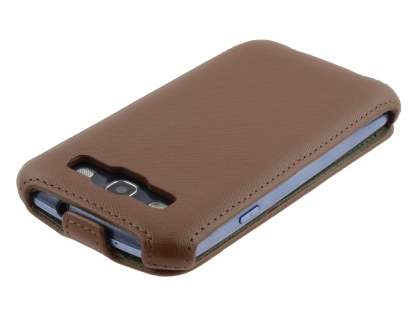 Samsung I9300 Galaxy S3 Slim Synthetic Leather Flip Case - Brown
