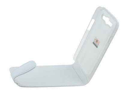 Samsung I9300 Galaxy S3 Genuine Leather Flip Case - White