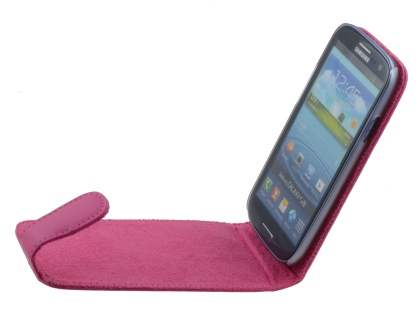 Samsung I9300 Galaxy S3 Genuine Leather Flip Case - Pink