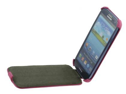 Samsung I9300 Galaxy S3 Slim Synthetic Leather Flip Case - Pink