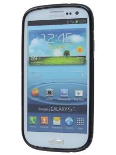 Samsung I9300 Galaxy S3 Wave Case - Frosted Black/Black