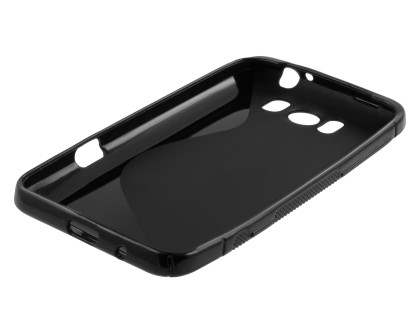 HTC Titan Wave Case - Frosted Black/Black