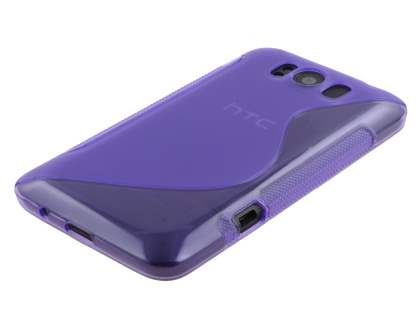 HTC Titan Wave Case - Frosted Purple/Purple