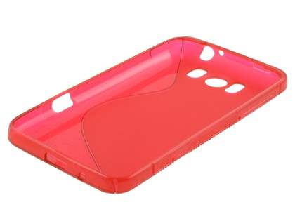 HTC Titan Wave Case - Frosted Red/Red
