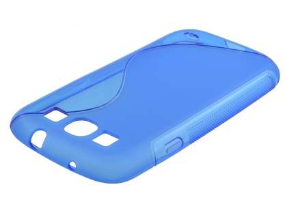 Samsung I9300 Galaxy S3 Wave Case - Frosted Blue/Blue