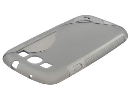 Samsung I9300 Galaxy S3 Wave Case - Frosted Grey/Grey
