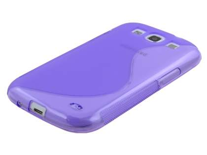 Samsung I9300 Galaxy S3 Wave Case - Frosted Purple/Purple