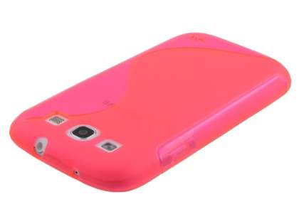Samsung I9300 Galaxy S3 Wave Case - Frosted Pink/Pink