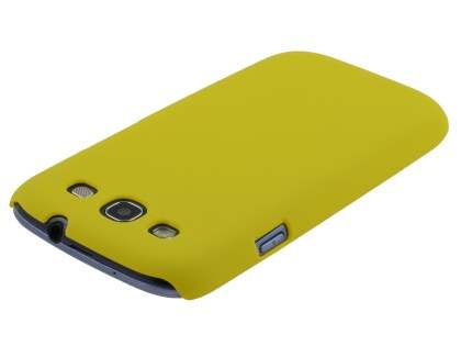 Samsung I9300 Galaxy S3 UltraTough Rubberised Slim Case - Canary Yellow