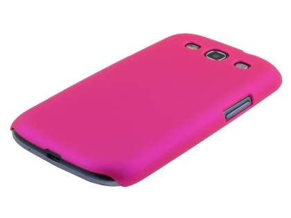 Samsung I9300 Galaxy S3 UltraTough Rubberised Slim Case - Hot Pink