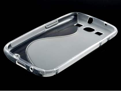 Samsung I9300 Galaxy S3 Wave Case - Frosted Clear/Clear