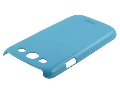 Vollter Ultra Slim Glossy Case plus Screen Protector for Samsung I9300 Galaxy S3 - Sky Blue